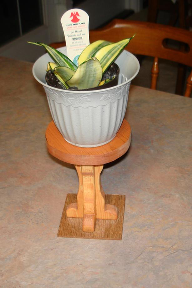 Wooden Plant Stand for 4 inch pot; plant not included