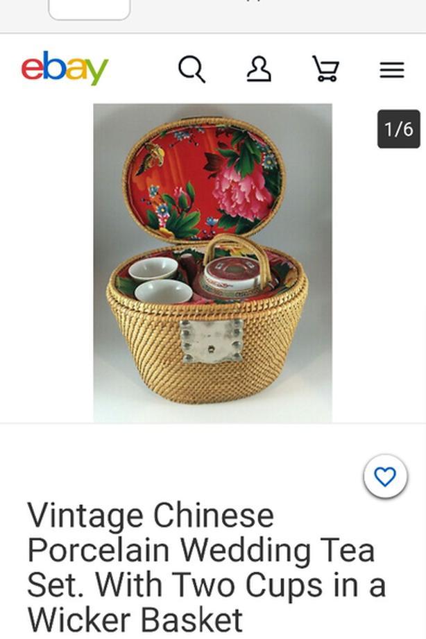 Vintage Chinese wedding tea set