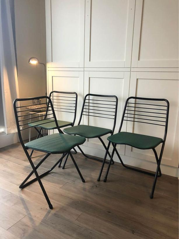 4 MCM Folding Chairs by Cosco MFG