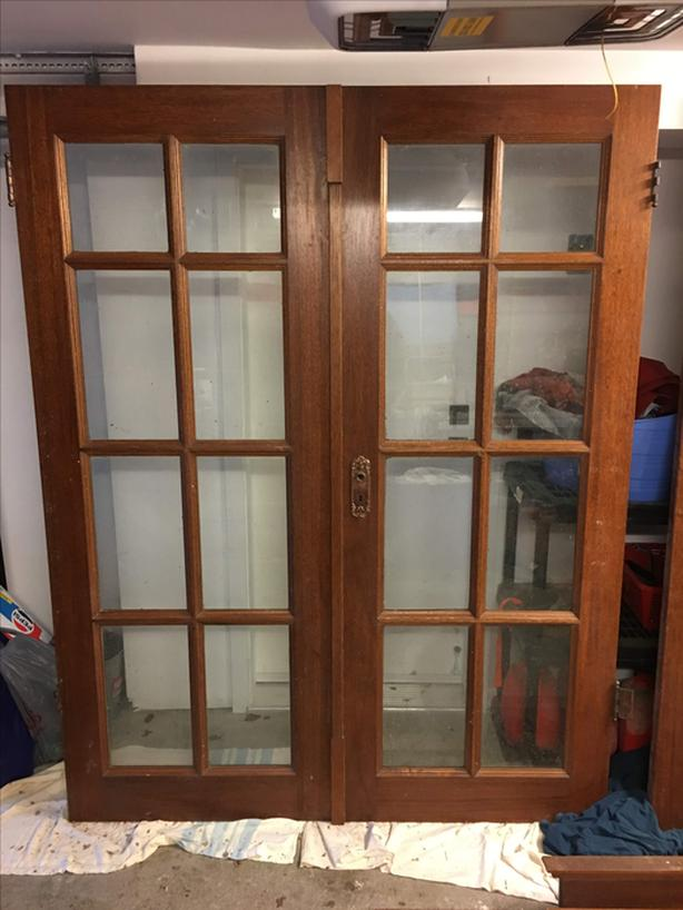 Solid Mahogany French Door - Reduced Price
