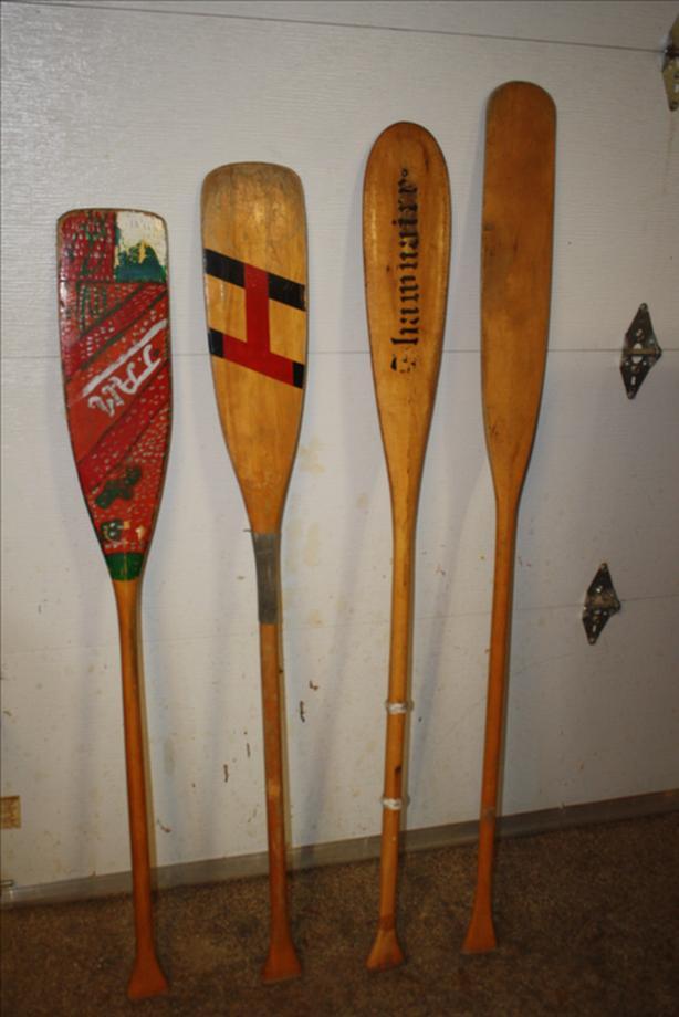 Vintage Canoe Paddles
