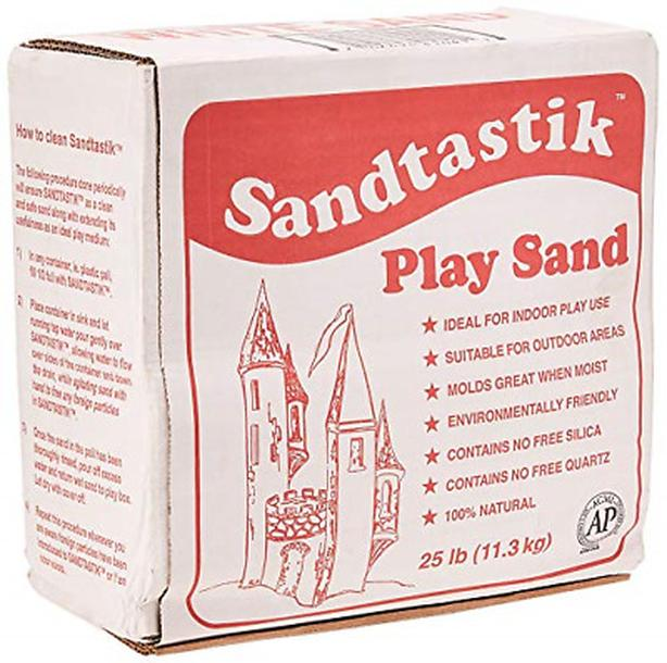 SANDTASTIK PLAY SAND, SPARKLING NATURAL WHITE, 25 LBS