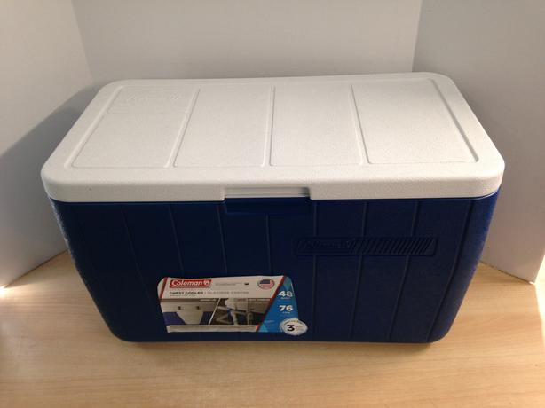 Camping Adventures Cooler Coleman Chest 48 Quart Keeps Ice 3 Days