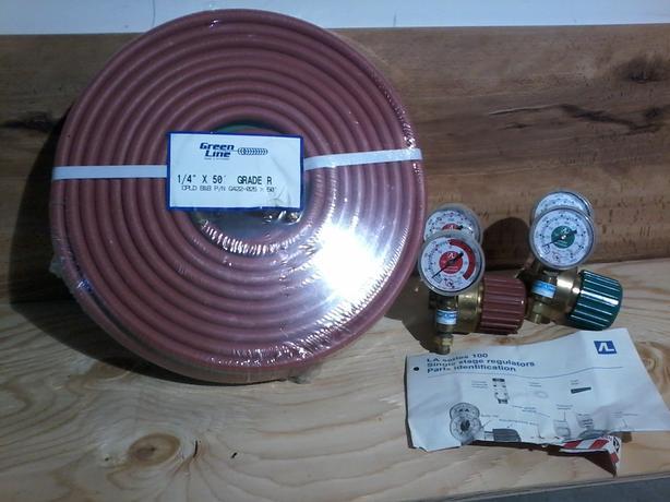 Oxy/acetylene hose & gauges