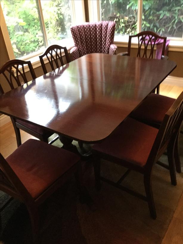Three piece dining room suite