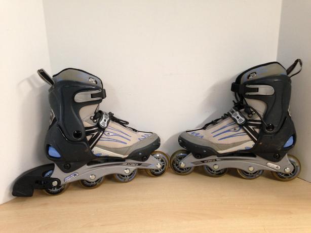 Inline Roller Skates Men's Size 9 Firefly Grey Blue