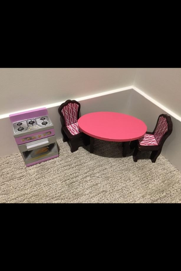 Dining table and stove