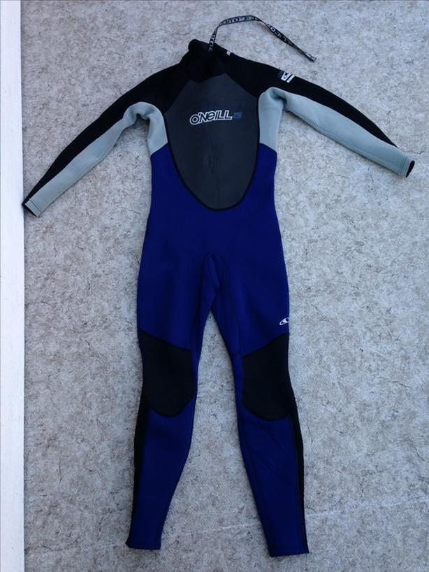 Wetsuit Men's Size Medium Oneill Reactor Full 3-2 mm Neoprene Black Blue