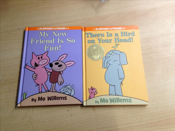 2 Elephant and Piggie Hard Covered Books Excellent