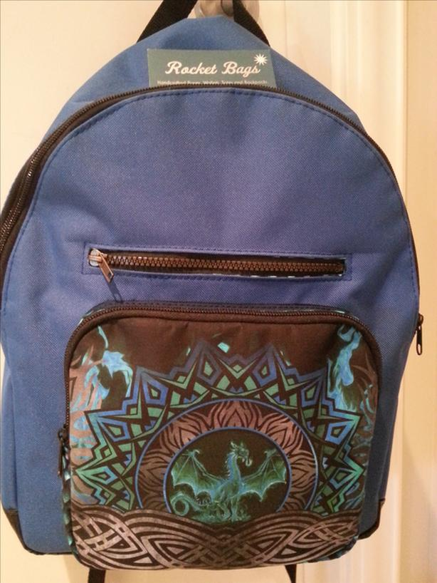 Blue Dragon Handcrafted Backpack