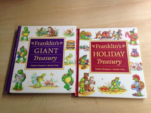 2 Franklin Hard Covered Books Holiday Treasures Franklins Giant Treasury