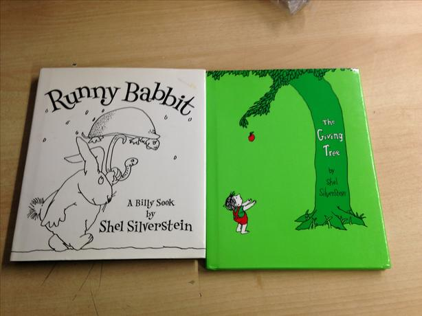 2 Shel Silverstein Hard Covered Books The Giving Tree and Runny Babbit