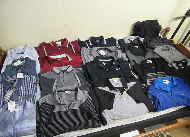 LOT OF MEN'S SHIRTS NEW WITH TAGS AT STEPTOE AUCTION