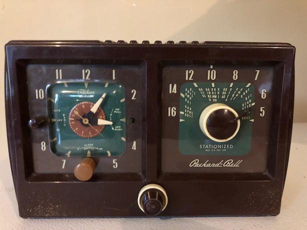1954 Vintage packard Bell radio clock