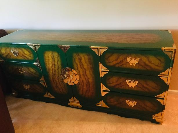 Solid mahogany Chinoiserie sideboard or dresser