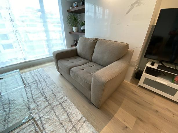 FREE: Beige Loveseat in Great Condition