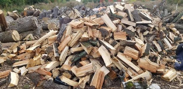 Split firewood for sale