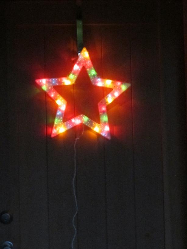 LIGHTED XMAS STAR
