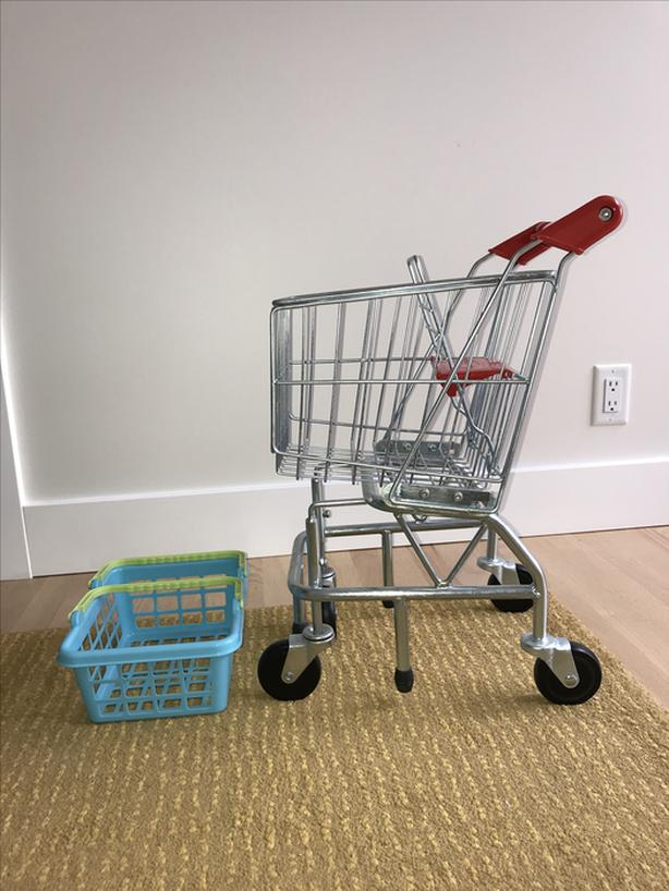 Children's Shopping Cart and Basket
