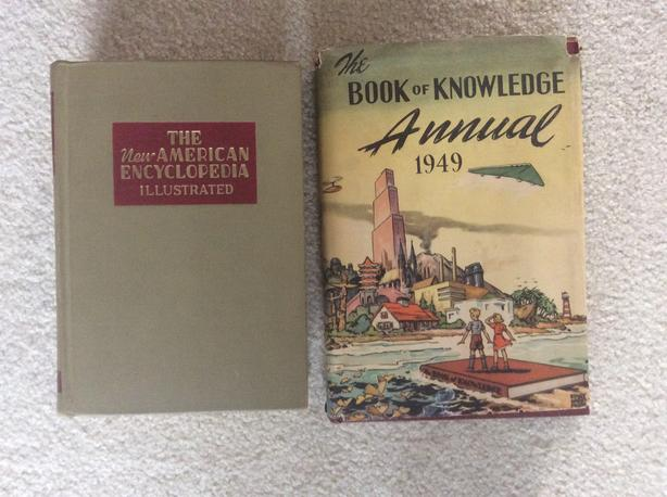Book of Knowledge Annual 1949 & New American Encyclopedia Illustrated 1941