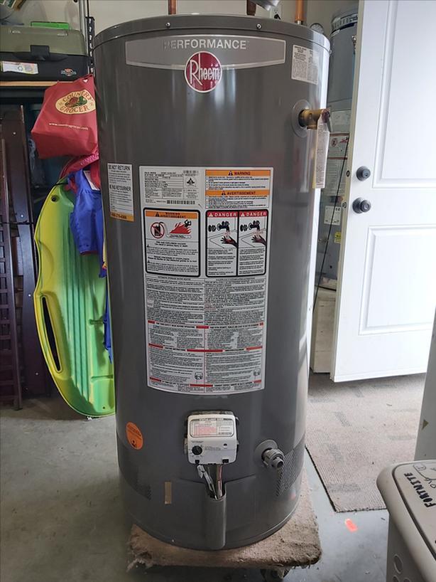 rheem 50 gal/ 189 litre gas hot water tank