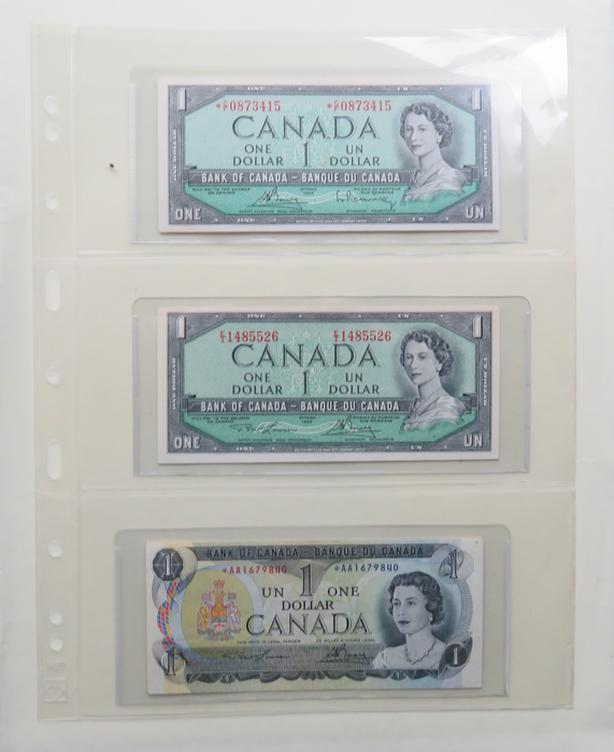 16 PIECE 1954/1973  REPLACEMENT BANKNOTE COLLECTION (F15 - AU55)