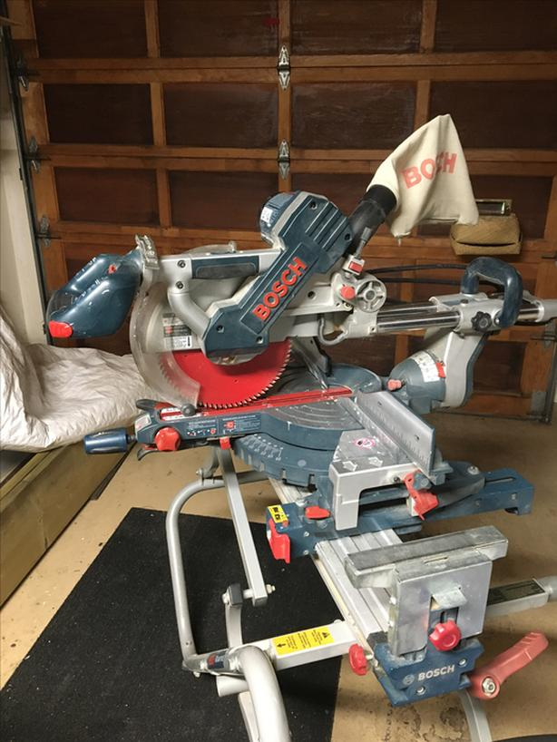 Bosch Compound Mitre Saw and stand