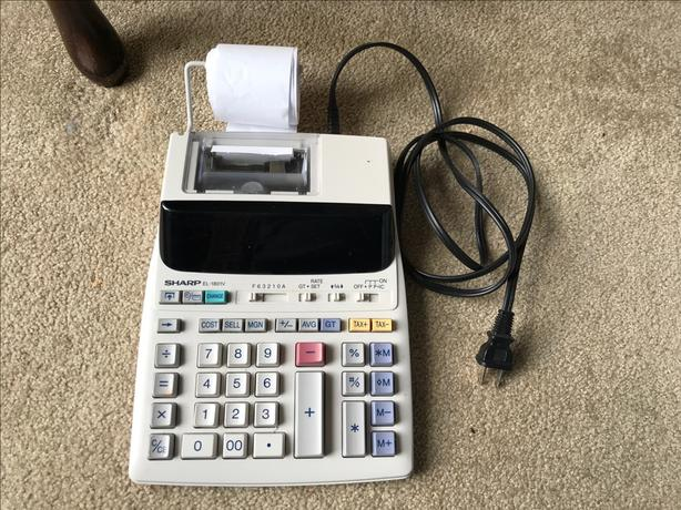 Electronic printing calculator