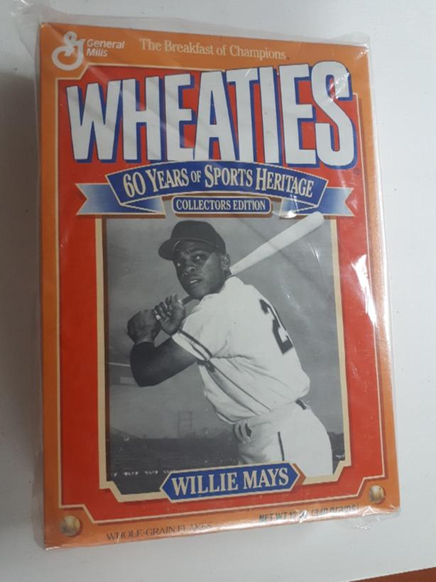 Willie Mays Wheaties full unopened cereal box