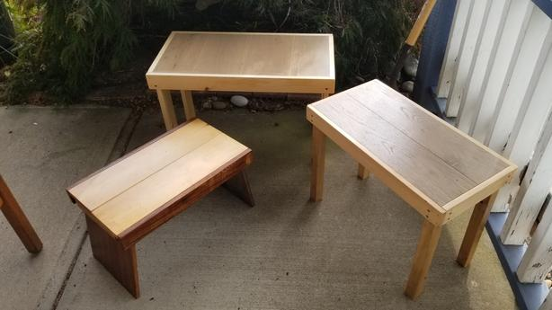 3 little benches
