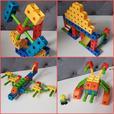 3 Sets of Fisher Price TRIO Building Blocks