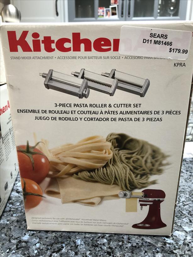 3 piece pasta roller set for Kitchen Aid