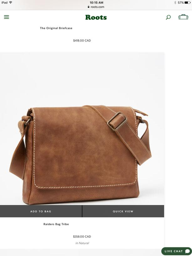 New Roots Tribe leather Raiders Bag