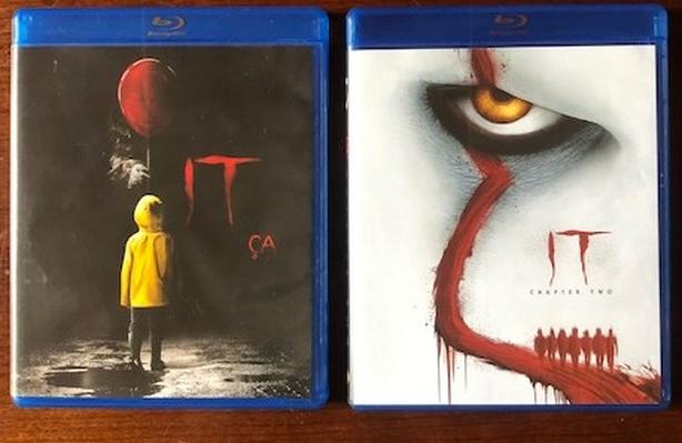 IT Chapter One and Two 1 2 Stephan King Blu-Ray DVD