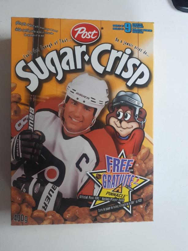 Eric Lindros Post Sugarcrisp full unopened cereal box