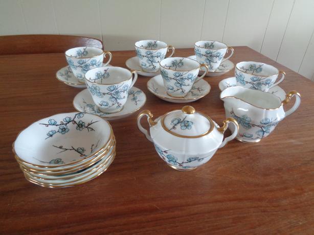 Vintage Adderley Bone China Tea Set