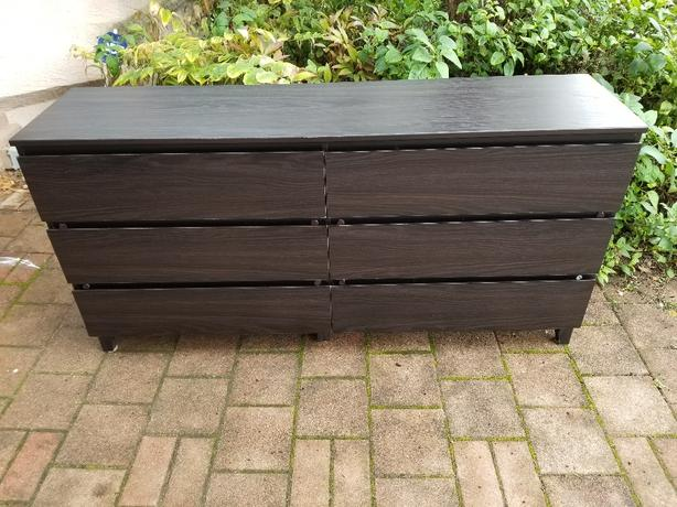 6 drawers IKEA malm dresser