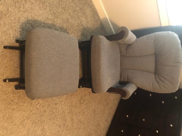 Rocking Chair Glider with Ottoman