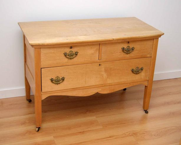 Antique Dresser with casters  /Located in Sooke