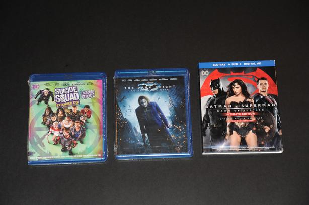 3 New Blu Rays – Suicide Squad, Dark Knight, Batman Vs Superman