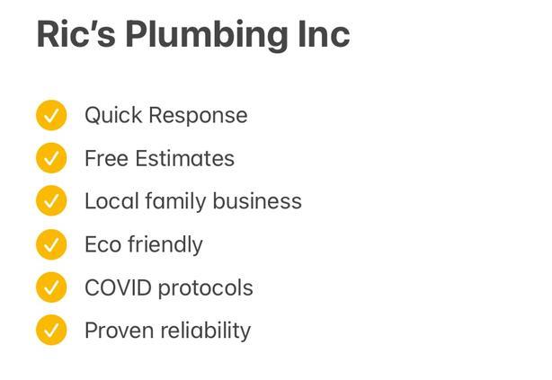 Ric's Plumbing Inc. Your local plumber