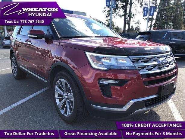 2018 Ford Explorer Limited - Sunroof - Navigation - $169.47 /Wk
