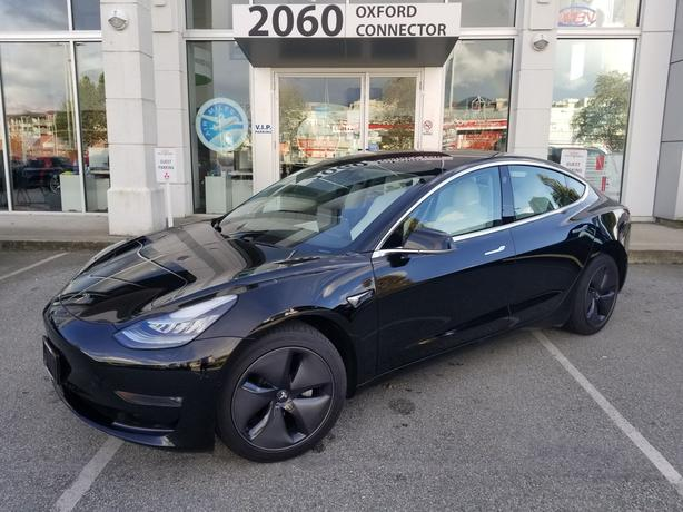 2018 Tesla Model 3 Mid Range White Leather-Navigation-Sunroof RWD