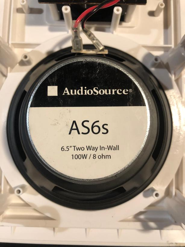 AudioSource AS6s In Wall In Ceiling Speakers