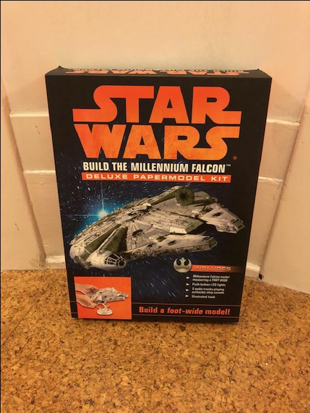 Star Wars Millennium Falcon and  R2-D2 model kits plus light sabre