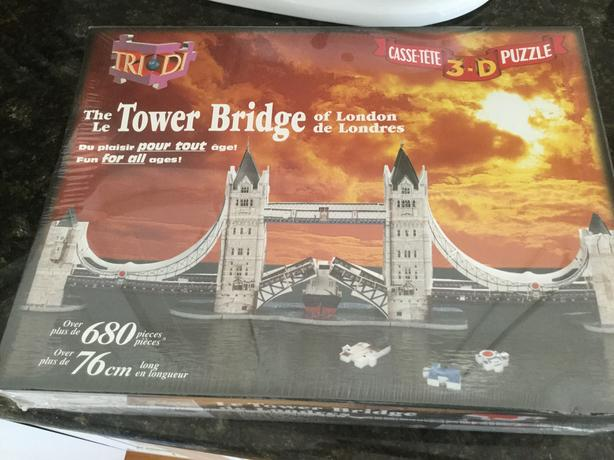 3D puzzles of the London Tower Bridge- brand new!