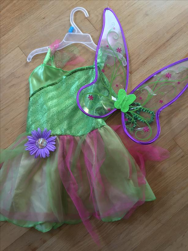 Tinker bell costume size 2-4