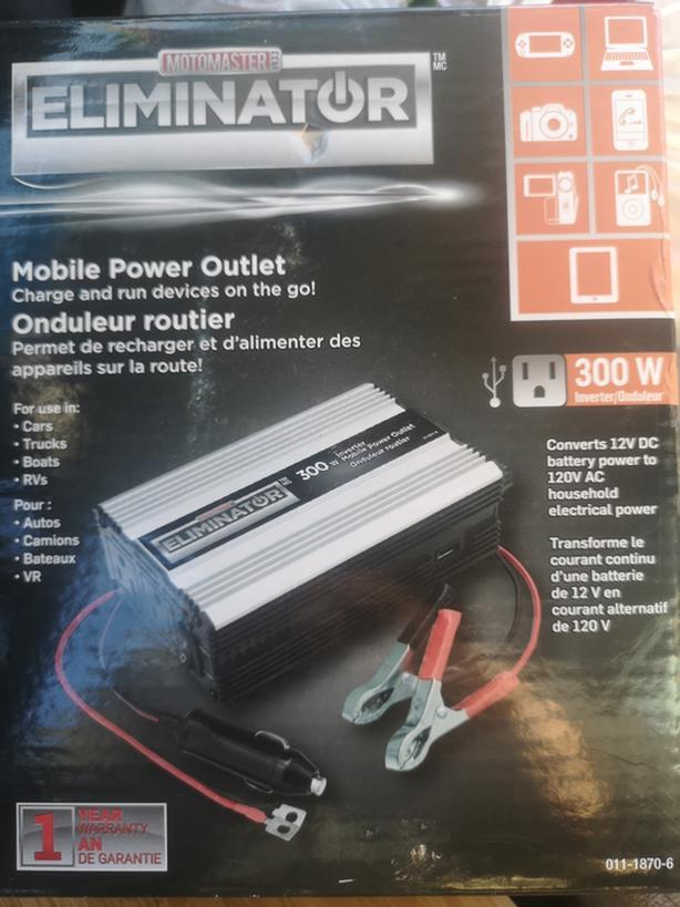 Motomaster eliminator 300 Watt Inverter