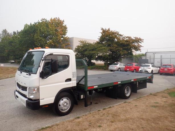 2012 Mitsubishi Fuso FE 160 16 Foot Flat Deck Diesel 2WD