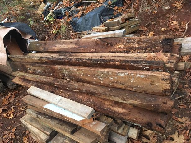 Weathered Cedar 2x6x12 and 8'. Barn wood